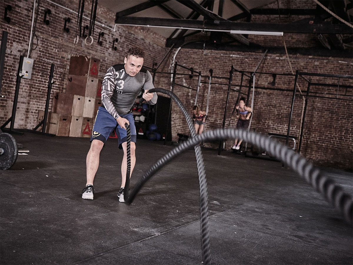 reebok battling rope fitness oprema