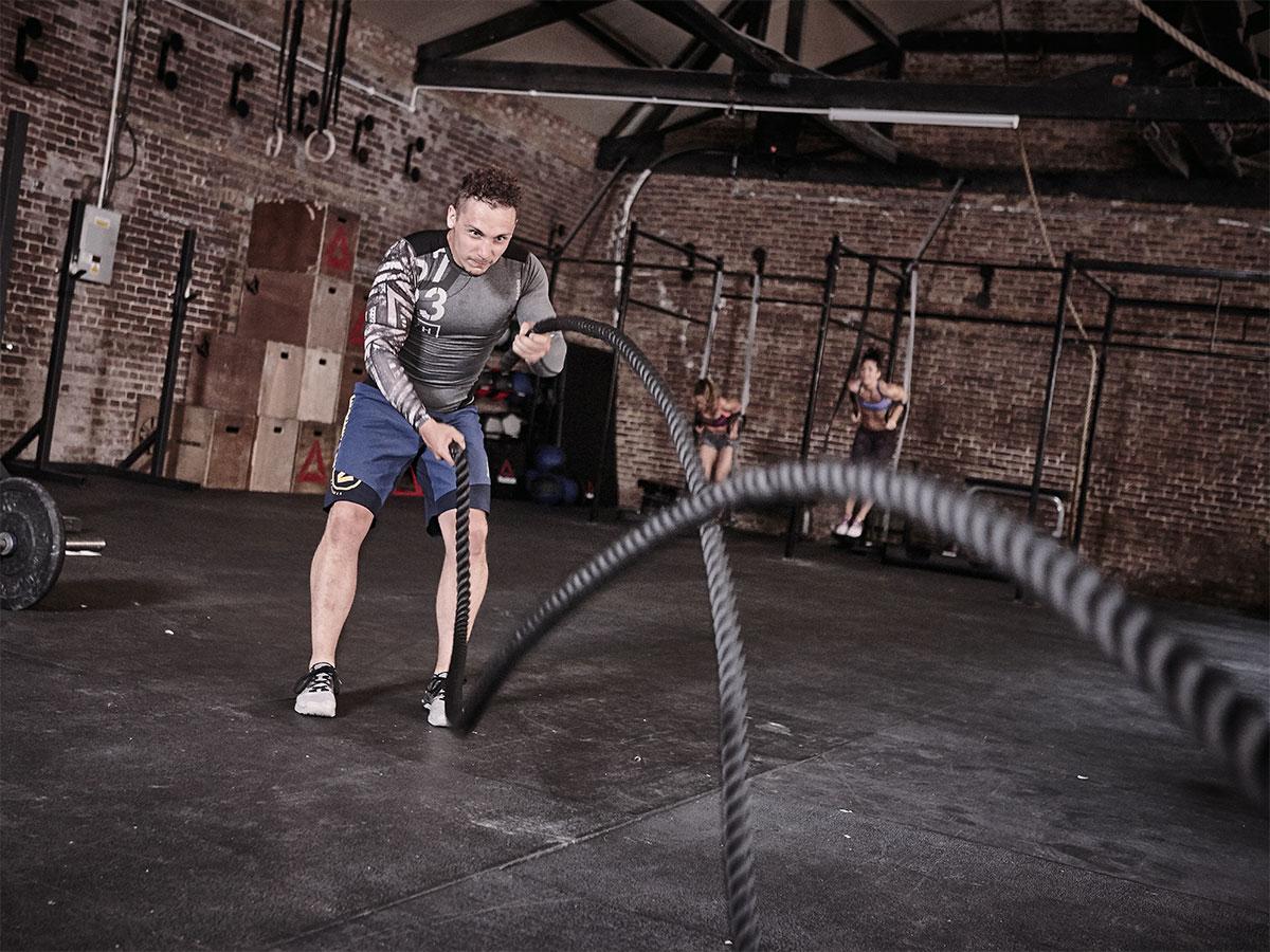 reebok battling rope fitness oprema